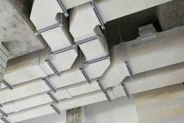 An example of fire rated ductworks by Promat