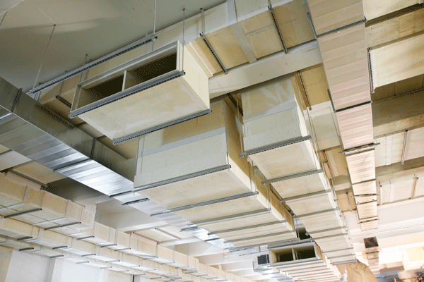 An example of a smoke extraction ductwork system by Promat